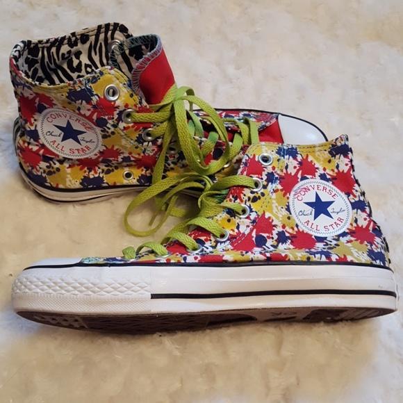 Converse Chuck Taylor All Star paint splatter high